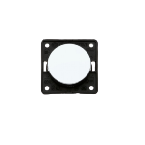Interruptor redondo simple 12/230V. Cromado