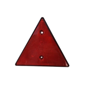 Reflector triangular rojo