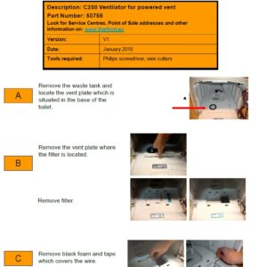 Ventilador automático para WC Thetford C260