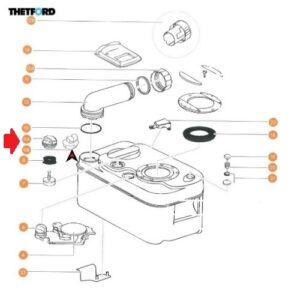 Tapón de ventilación automática para Cassette Thetford C200